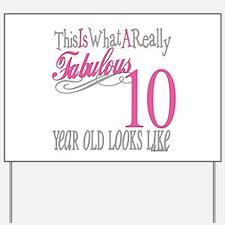 10th Birthday Gifts Yard Sign