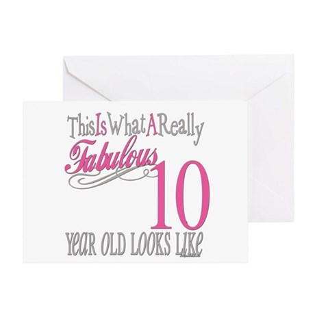 10th Birthday Gifts Greeting Card