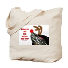 Rudolph the Red Nosed Red Ear Tote Bag