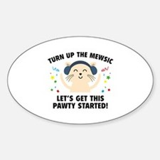 Turn up The Mewsic Decal