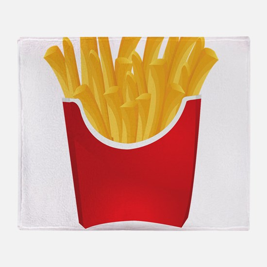 French fries art Throw Blanket