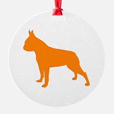 Boston Terrier Orange 2 Ornament
