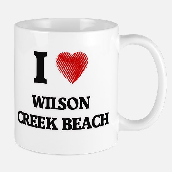 I love Wilson Creek Beach California Mugs