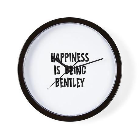 Happiness is being Bentley Wall Clock