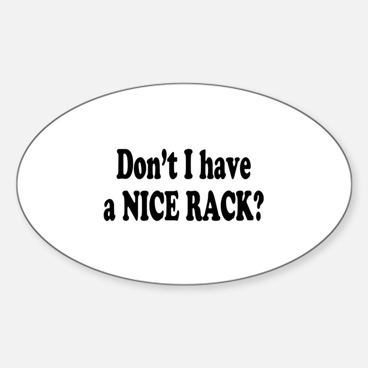 Nice Rack Oval Decal