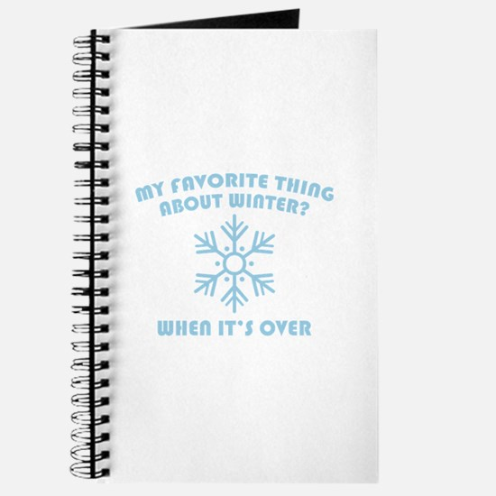Favorite Thing About Winter Journal