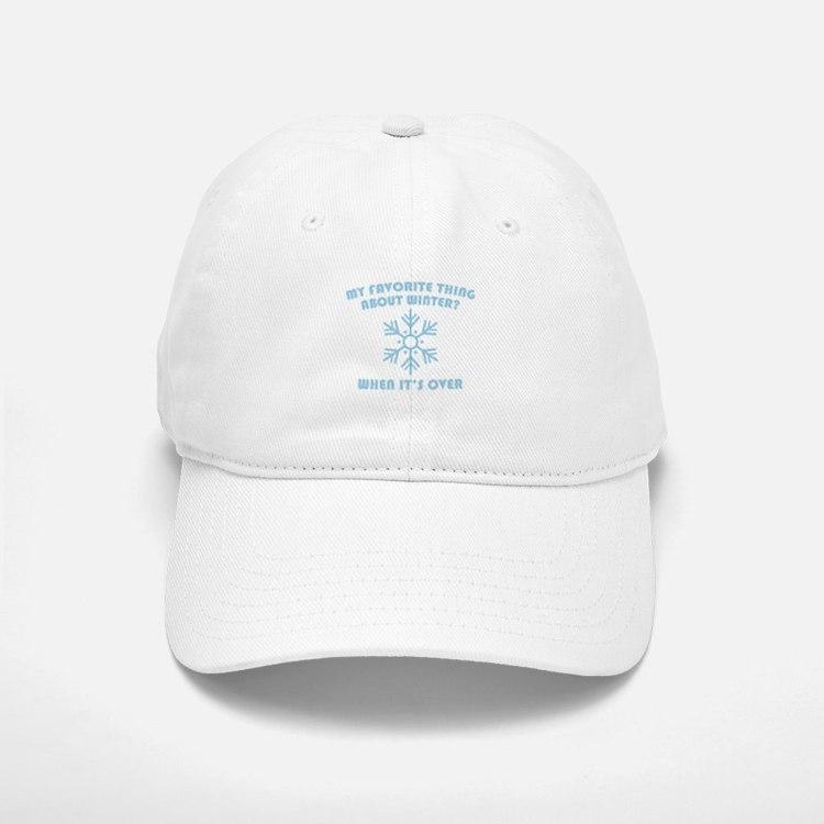 Favorite Thing About Winter Baseball Baseball Cap