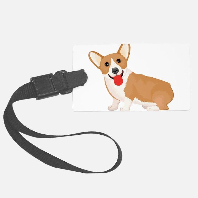 Pembroke welsh corgi dog showing Luggage Tag