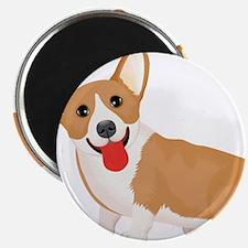 Pembroke welsh corgi dog showing tongue Magnets