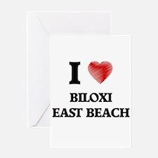 I love Biloxi East Beach Mississipp Greeting Cards