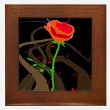 Rose Thorns and Briers Framed Tile