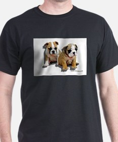 Bulldog Puppy Ash Grey T-Shirt