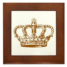 Brown Crown Framed Tile