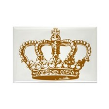 Brown Crown Rectangle Magnet (100 pack)