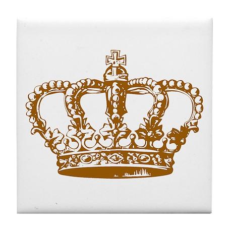 Brown Crown Tile Coaster