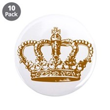 """Brown Crown 3.5"""" Button (10 pack)"""