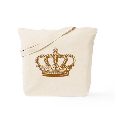 Brown Crown Tote Bag