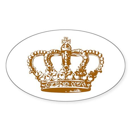 Brown Crown Oval Sticker