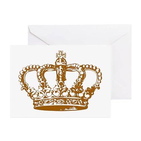 Brown Crown Greeting Cards (Pk of 10)