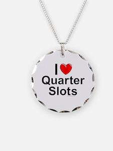 Quarter Slots Necklace Circle Charm