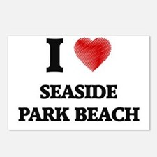 I love Seaside Park Beach Postcards (Package of 8)