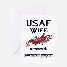 USAF Wife Authorized Greeting Card