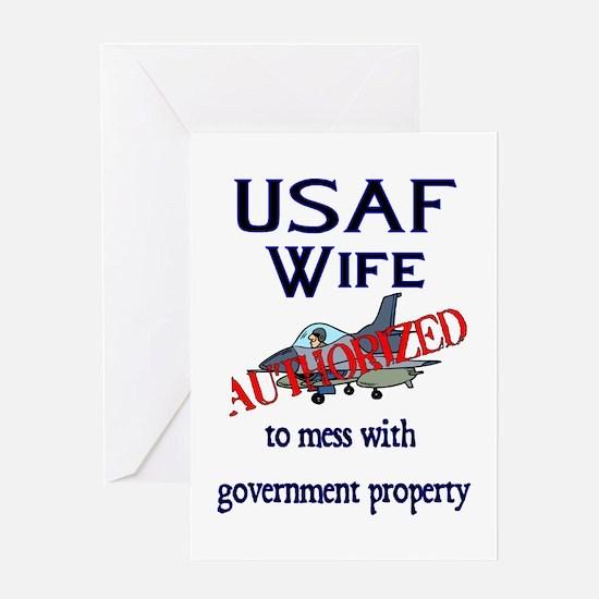 USAF Wife Authorized Greeting Card