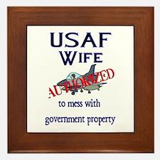 USAF Wife Authorized Framed Tile
