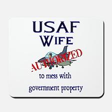 USAF Wife Authorized Mousepad