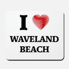 I love Waveland Beach Mississippi Mousepad