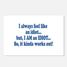 I AM an Idiot Postcards (Package of 8)