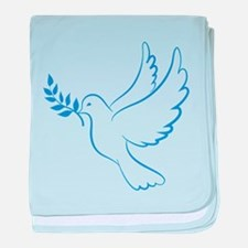 Dove of peace baby blanket
