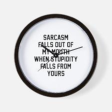 Sarcasm Stupidity Wall Clock