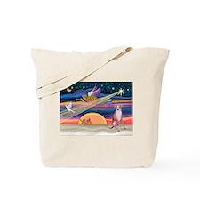 XmasStar/Whippet (#7) Tote Bag
