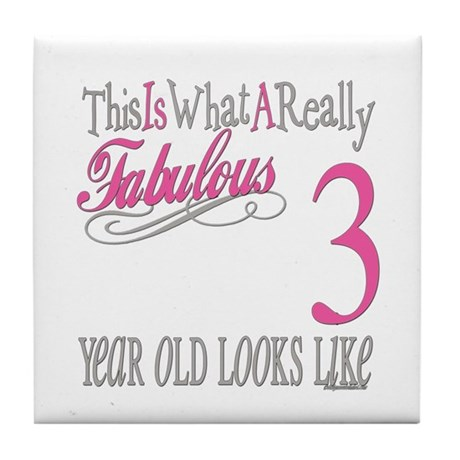 3rd Birthday Gifts Tile Coaster
