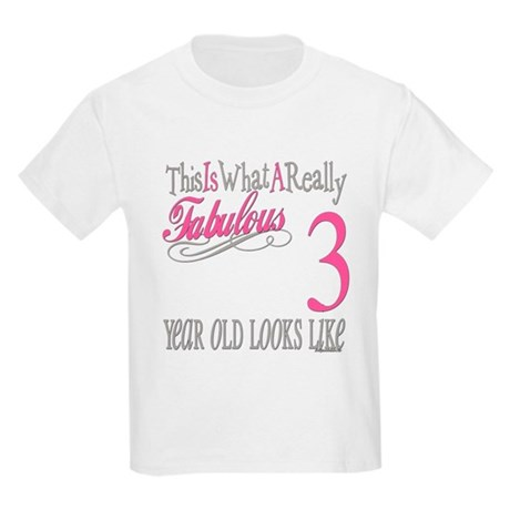 3rd Birthday Gifts Kids Light T-Shirt