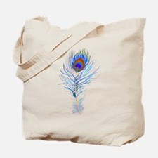 Peacock feather watercolor Tote Bag
