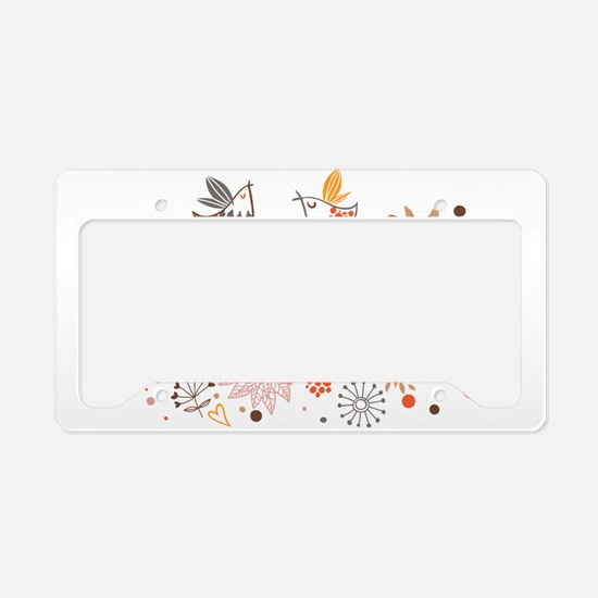 Combination of exquisite bird License Plate Holder