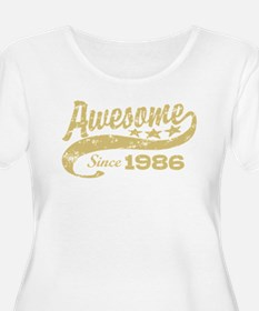 Awesome Since 1986 Plus Size T-Shirt