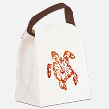 Unique Turtle flower Canvas Lunch Bag
