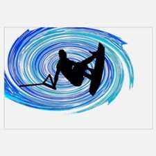 Cute Wakeboarding Wall Art