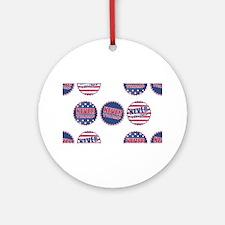 never trump Round Ornament