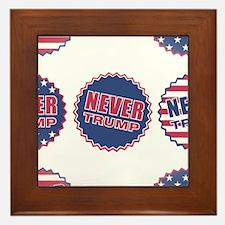 never trump Framed Tile