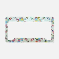 Cute Quilt design License Plate Holder