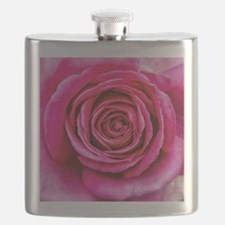 Hot Pink Rose Closeup Flask