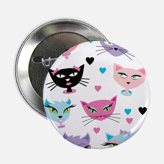 "Cute cartoon cats card 2.25"" Button (10 pack)"