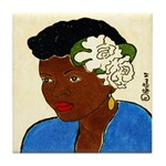 Woman w/Gardenias in Her Hair Tile Coaster