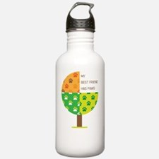 Adopt a rescue dog today Water Bottle