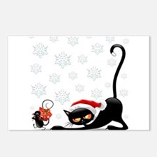 Christmas funny cats Postcards (Package of 8)