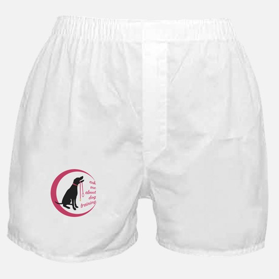 ask me about dog training Boxer Shorts